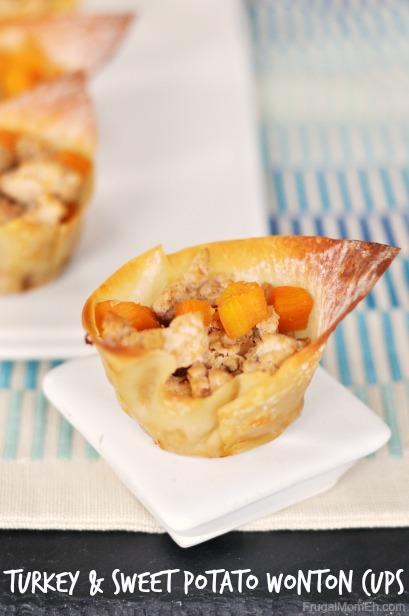 Turkey and Sweet Potato Wonton Cups
