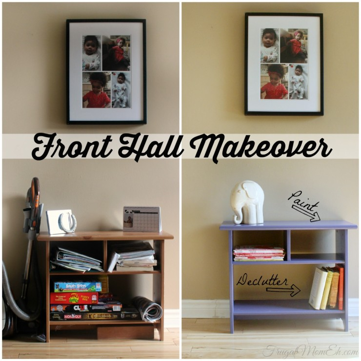 This Easy Front Hall Makeover wasn't just about organization but also a fab home decor diy project too!