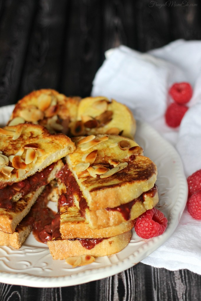 Raspberry and Nutella Stuffed French Toast Sandwich