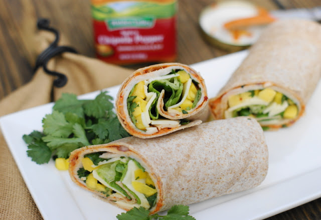 Spicy Chipotle Smoked Turkey-Mango Wrap 2