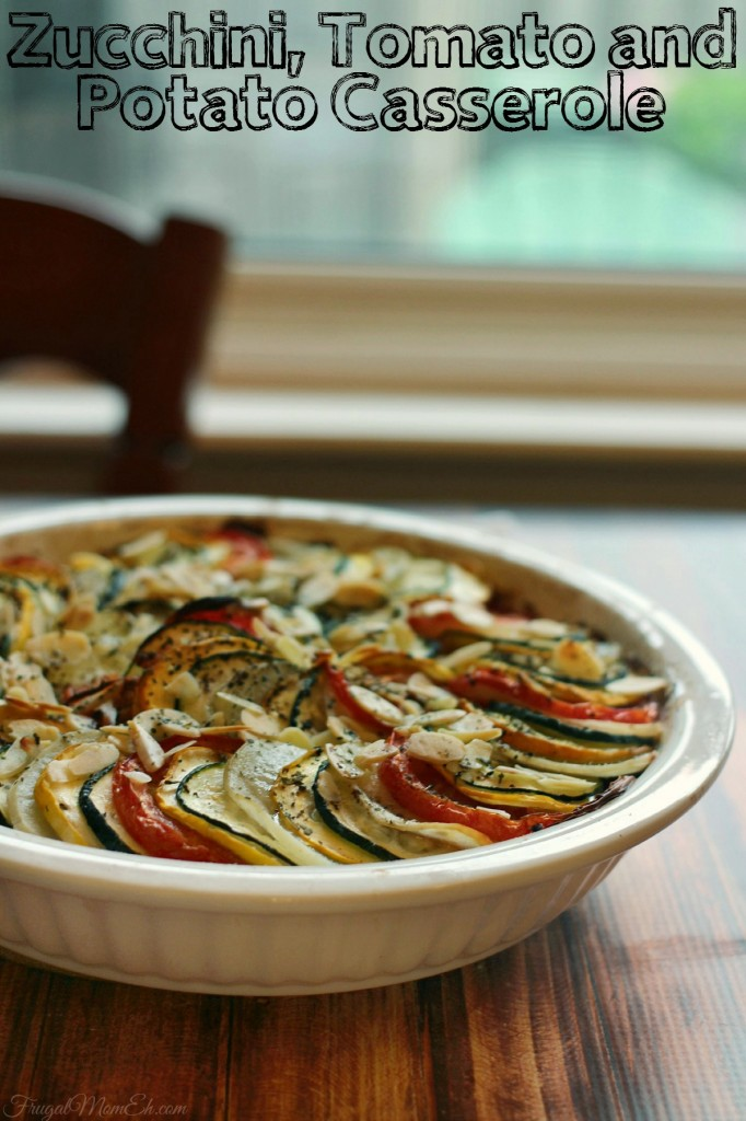 Harvest from your summer garden and make this delicious Zucchini, Tomato and Potato Casserole recipe!