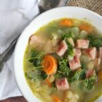 15 Minute White Bean and Ham Soup with Kale