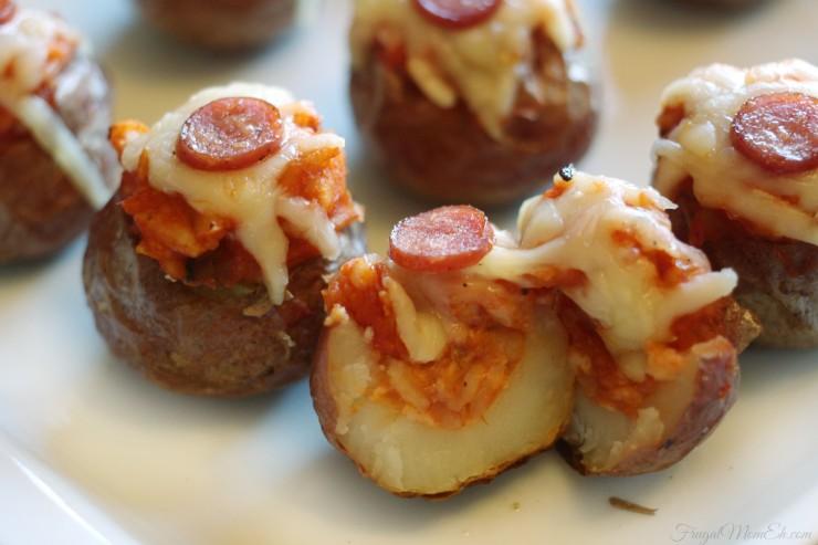 Pizza Stuffed Mini Potatoes