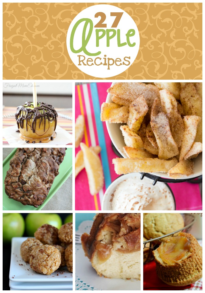 What to do with all those apples? Here are 27 apple recipes from dessert and soup plus more to get you started!