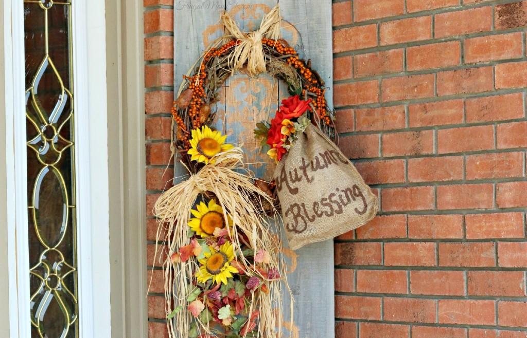 DIY Autumn Blessing Arrangement {Picket Fence Repurpose}