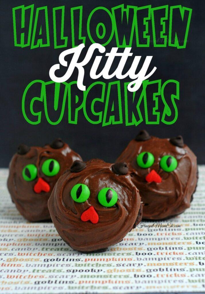 Halloween Kitty Cupcakes