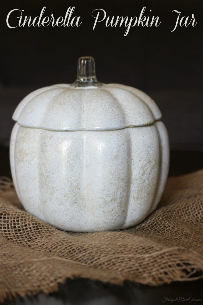 Cinderella Inspired Pumpkin Jar