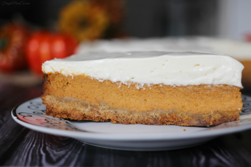 Layered Maple Pumpkin Cheesecake Pie - Frugal Mom Eh!