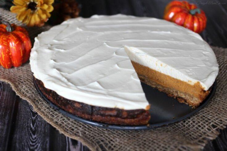 Layered Maple Pumpkin Cheesecake Pie