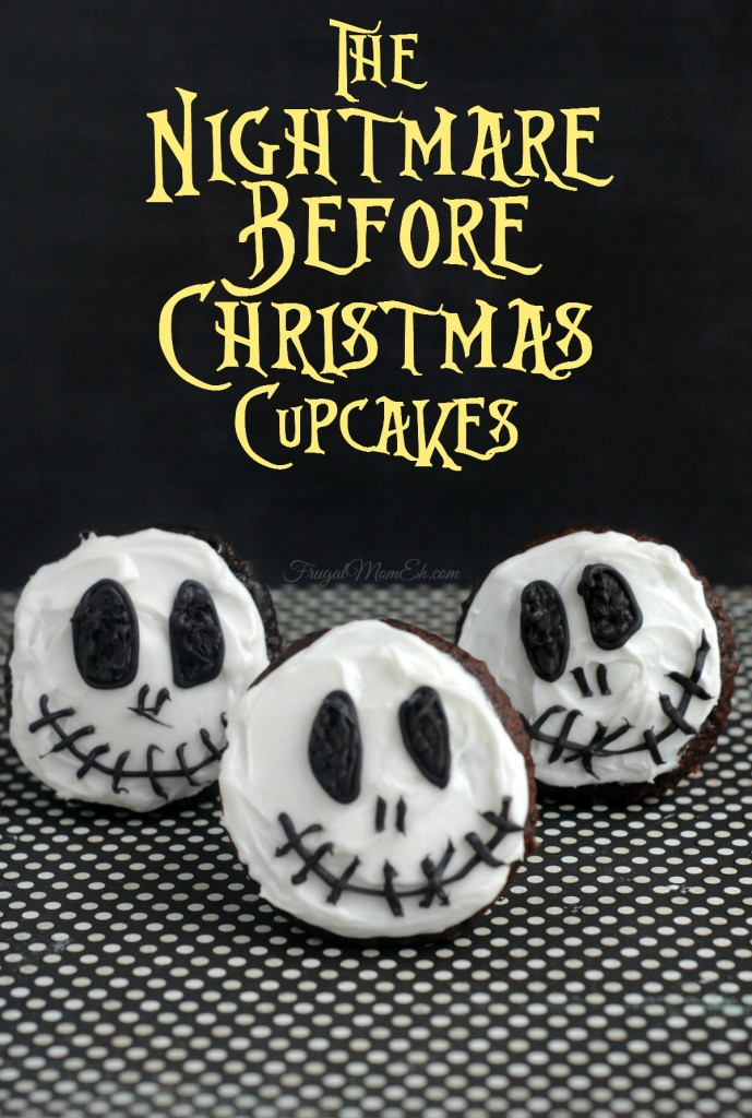 Who doesn't love Tim Burton inspired treats?  These Jack Skellington Cupcakes are perfect for Halloween and incredibly easy to create.  The Nightmare Before Christmas has never looked or tasted better!