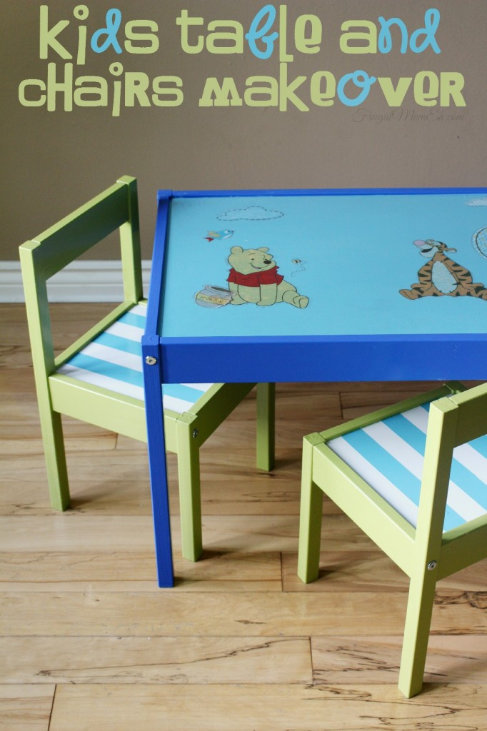 Kids Table and Chairs Makeover - LÄTT Children's table and 2 chairs get an awesome diy custom makeover!