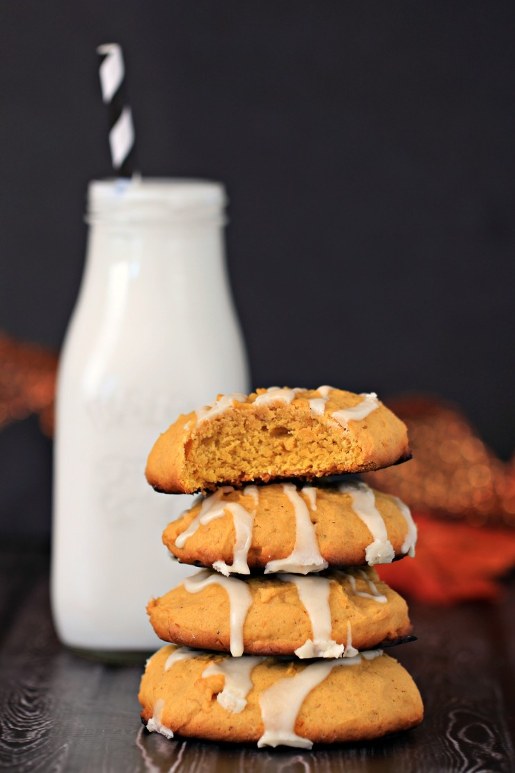 Pumpkin Spice Cookies with Maple Icing