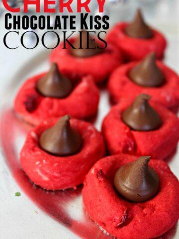 Cherry Chocolate Kiss Cookies