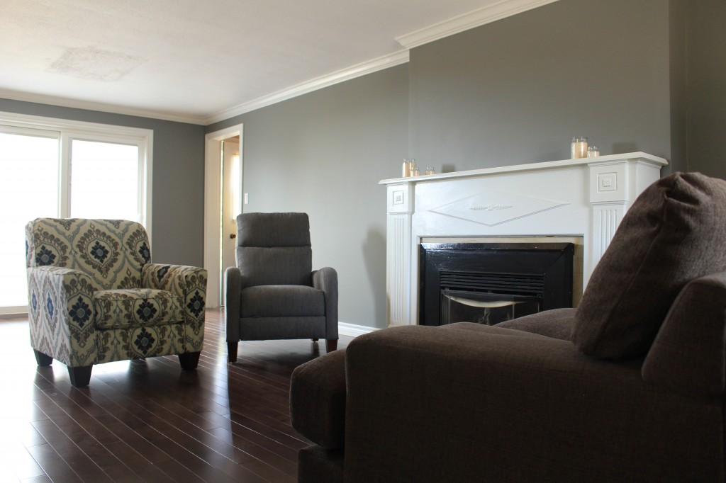 Room Makeover in Grant Gray by Behr