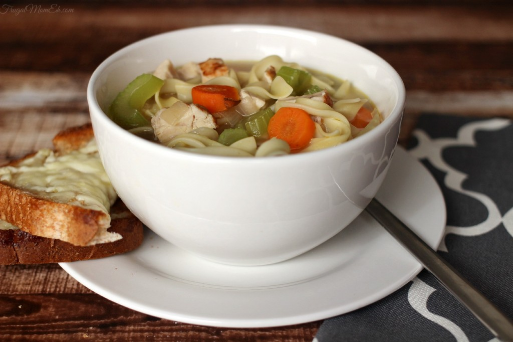 Quick & Easy Classic Chicken Noodle Soup  #DinnerIn15