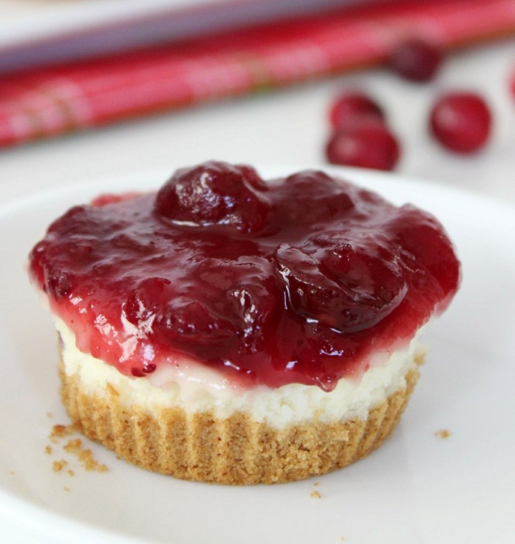 Mini Cranberry Cheesecakes - Frugal Mom Eh!