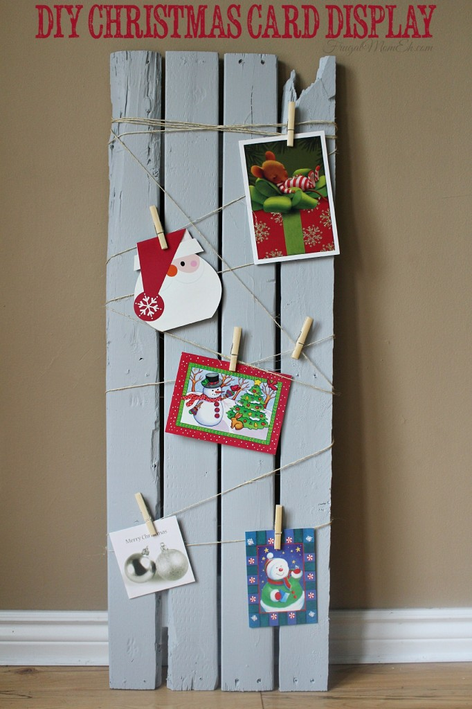 This DIY Christmas Card Display is a great decor idea to help organize your Christmas Cards.  Super easy to follow tutorial!