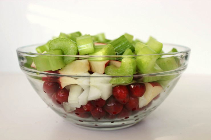 This Cranberry Apple Walnut Dressing is a perfect holiday stuffing recipe. Great for Thanksgiving and Christmas dinner!