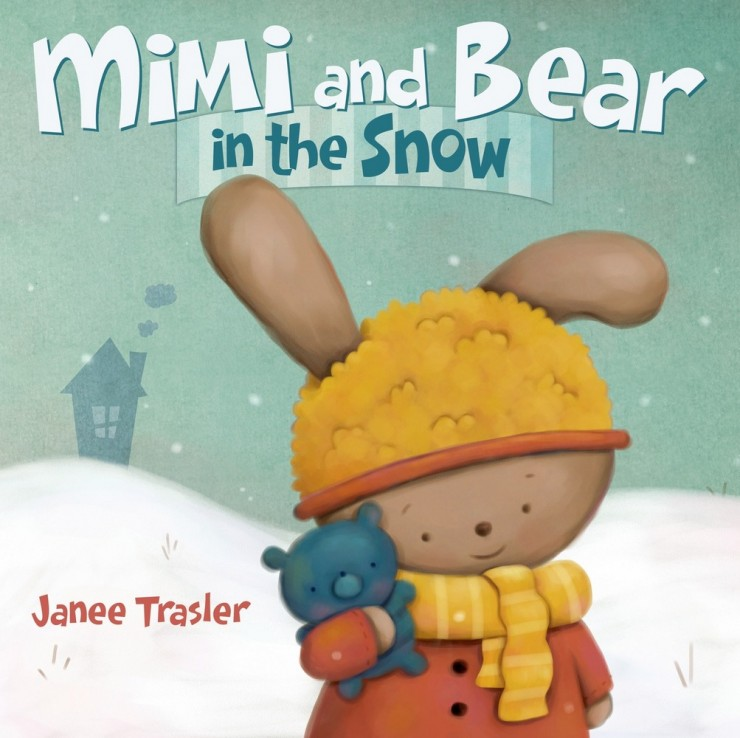 Mimi and the bear in the snow