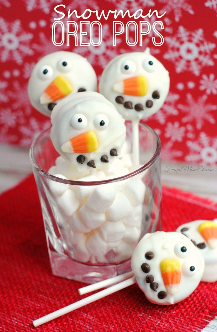 These Snowman Oreo Pops are a fun Christmas Cookie treat with a simple recipe that is a piece of cake to pull off!