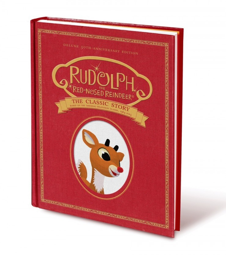 Rudolph the Red-Nosed Reindeer: The Classic Story Deluxe 50th-Anniversary Edition by Thea Feldman