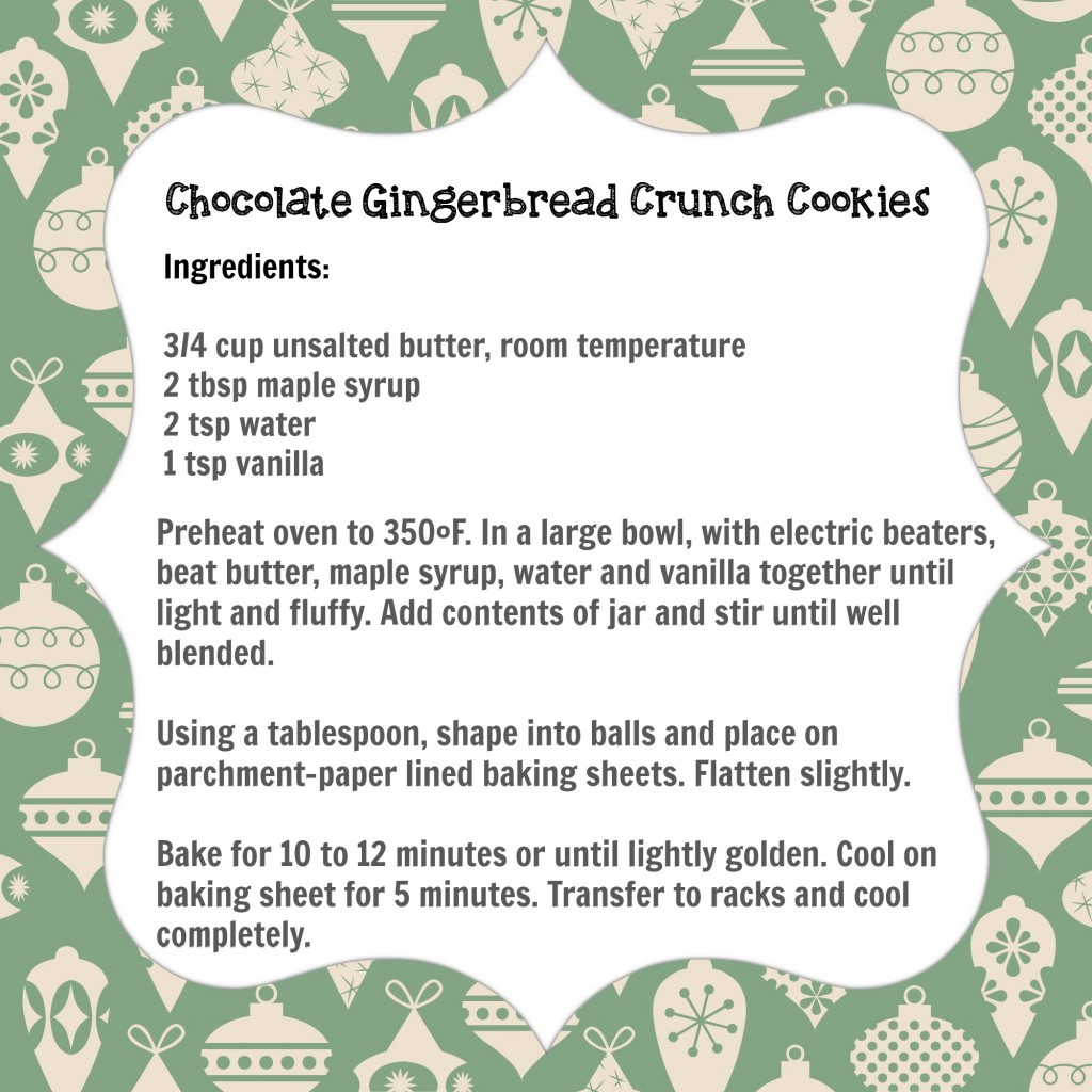 Chocolate Gingerbread Crunch Cookies