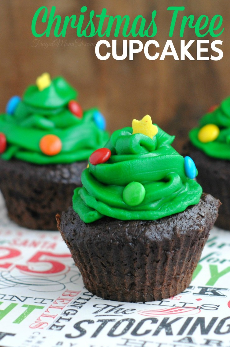 these christmas tree cupcakes are a great christmas party idea that will have your guests asking