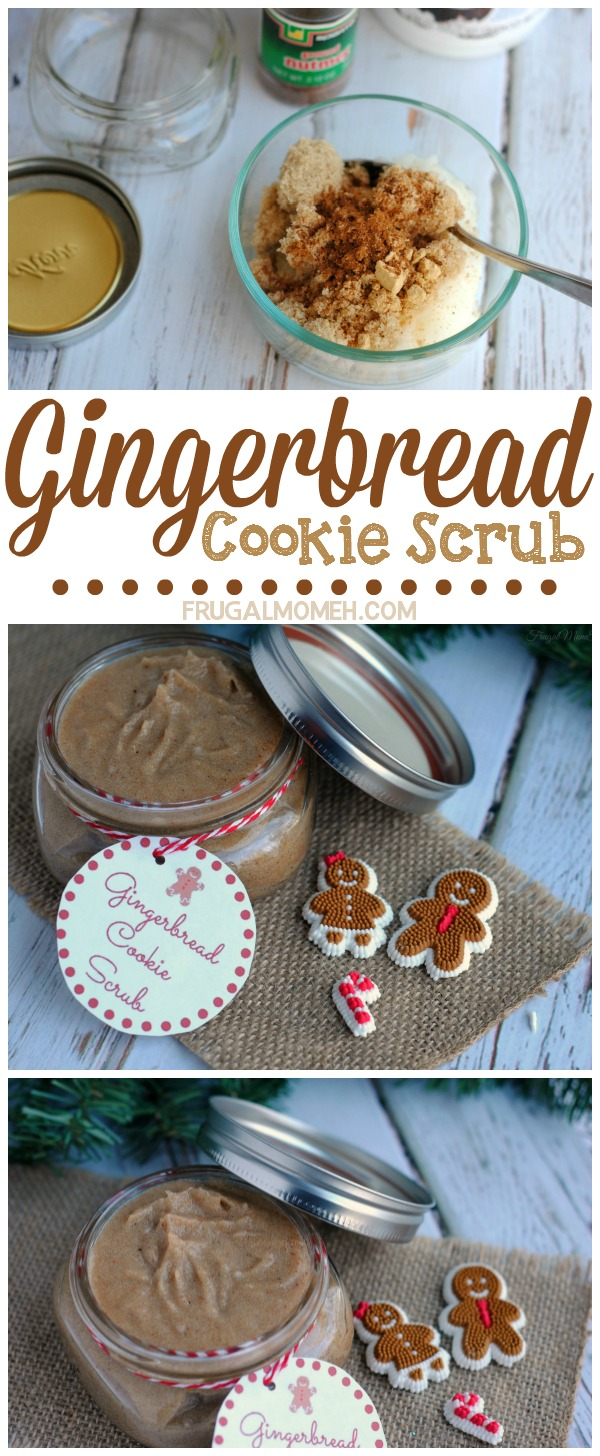 This Gingerbread Cookie Scrub is a diy recipe perfect for gift giving. If you are looking for a sugar scrub perfect for Christmas Gifts - this IS IT!