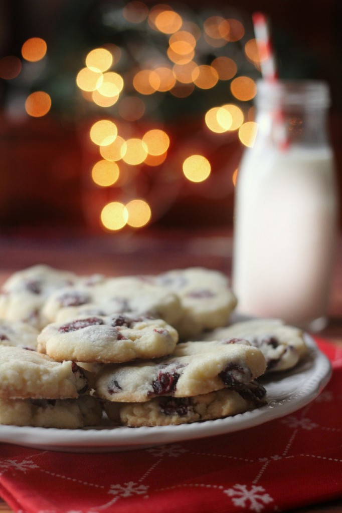 White Chocolate & Cranberry Shortbread - a great twist on a classic cookie recipe! Great Christmas Cookies!