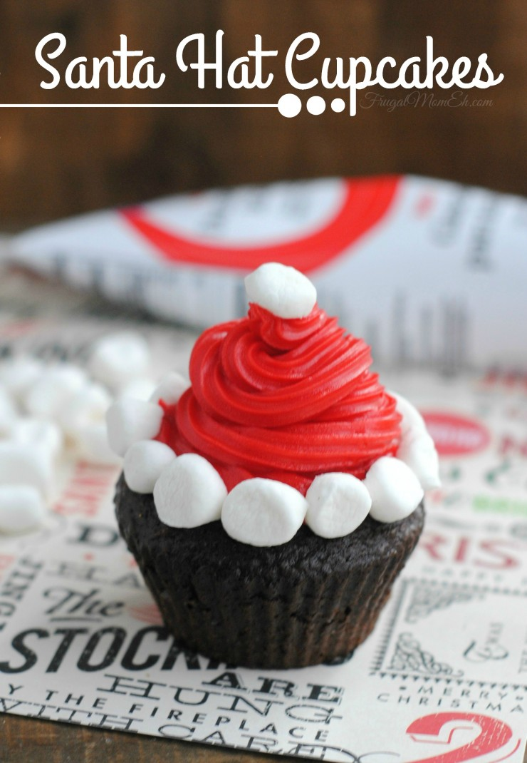 these santa hat cupcakes are perfect for a christmas party desserts table your family will - Christmas Party Desserts