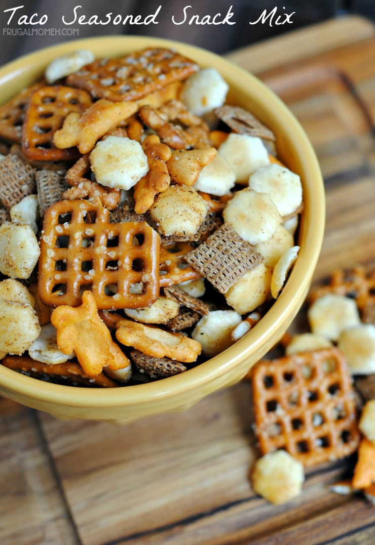 Taco Seasoned Snack Mix is a great way to make your own homemade snack mix plus the Taco Seasoning included also works great for actual tacos.