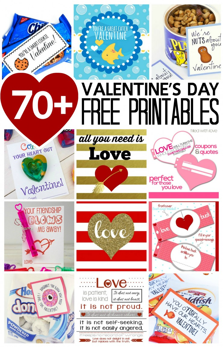 70+ Valentine's Day Free Printables for frugal diy kids crafts, worksheets, valentine's day cards, and even fabulous valentine's day home decor!