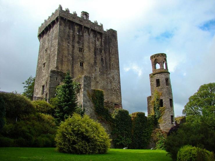 Blarney Stone atop Blarney Castle