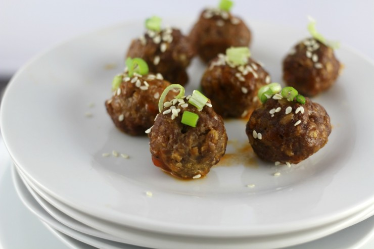 Thai Cocktail Meatballs #TKeveryday