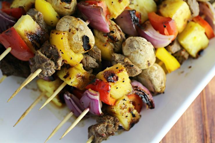 Pineapple Tamarind Beef Kabobs