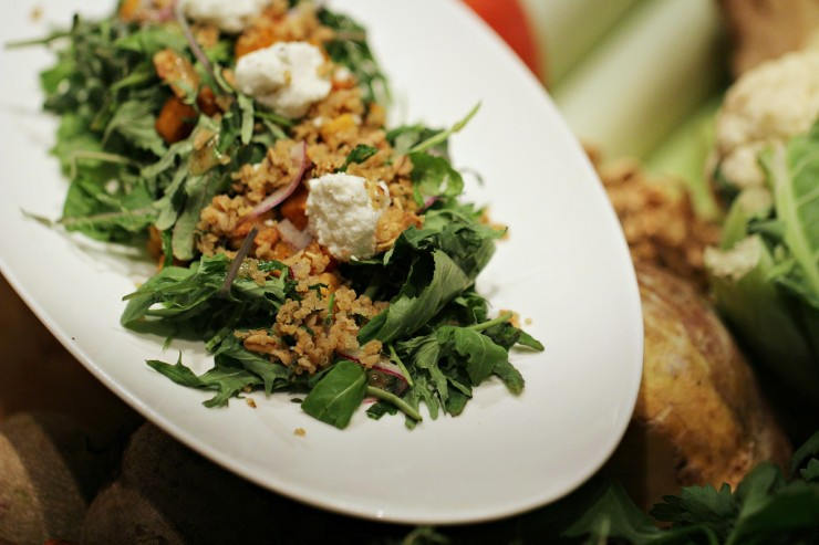 Roasted Root Vegetable & Baby Kale Salad