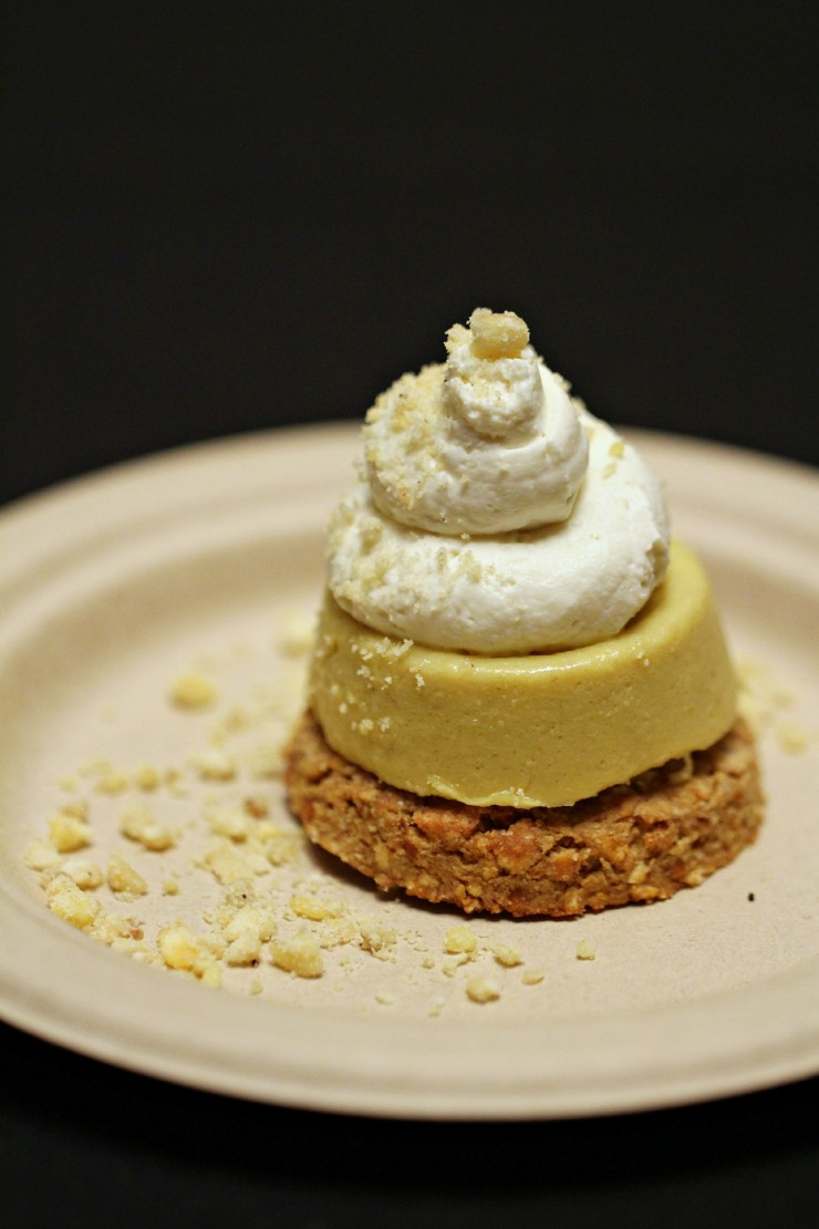 Sous Vida Banana Cream Pie with Homemade Chai Marscapone on a Peanut Butter and Pretzel Crust