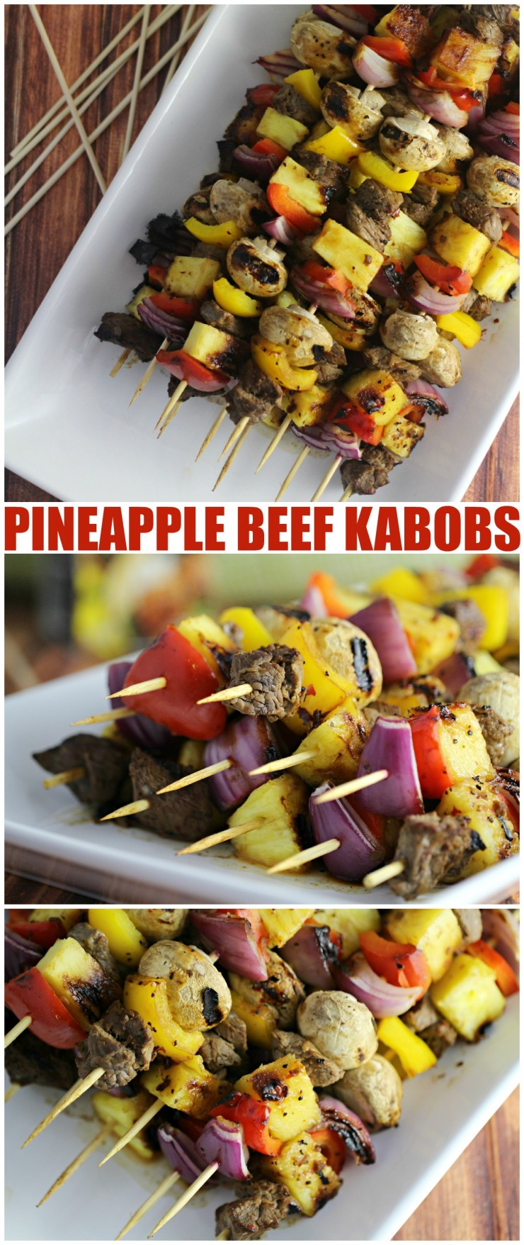 These Pineapple Tamarind Beef Kabobs are full of tropical flavours and deliciously grilled to perfection for a family dinner you will make again and again.