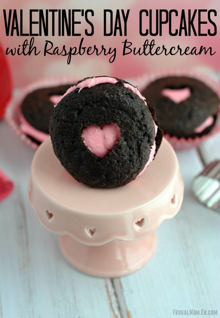 Valentine's Day Cupcakes with Raspberry Buttercream