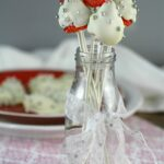 White Chocolate Covered Strawberry Pops & Hearts