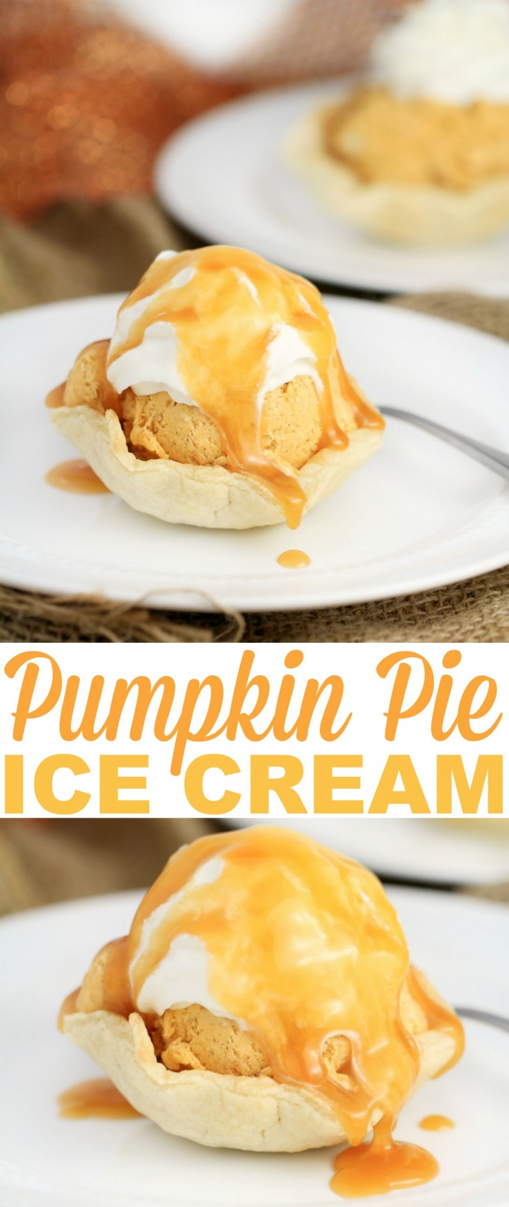 Pumpkin Pie is a crowd favourite and this delicious No-Churn Pumpkin Spice Ice Cream is served in flaky pastry bowls. This cold treat is perfectly creamy and tastes just like pumpkin pie.