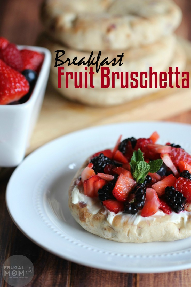Breakfast Fruit Bruschetta is a delicious recipe that is just as delicious for a fresh tasting dessert!