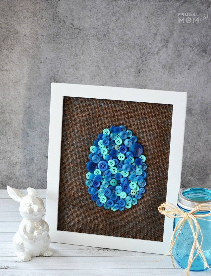 This easy DIY Easter Egg Button Art is a great home decor project for the Easter season. Includes a free printable template!