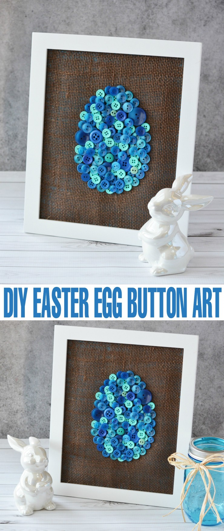 This easy DIY Easter Egg Button Art is a great Easter decor project for the Easter season. Includes a free printable template!