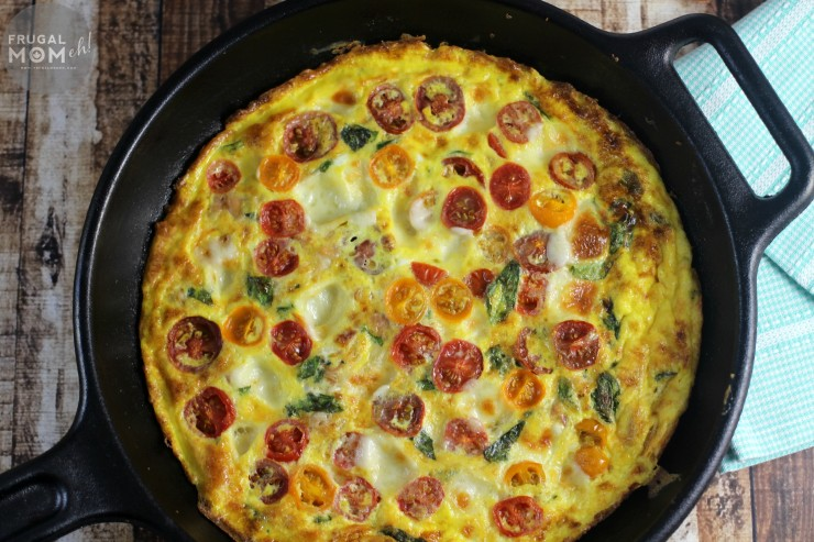 This Caprese Frittata with Prosciutto is perfect for breakfast or even a family dinner served with a side of salad.