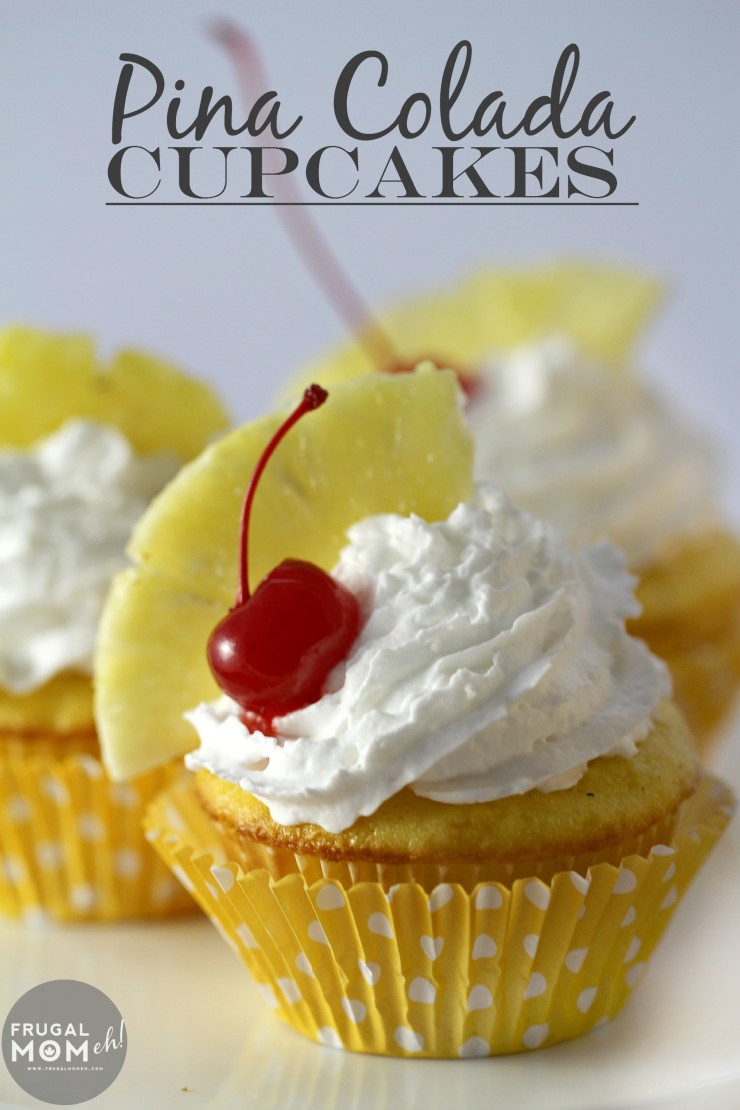 Pina Colada Cupcakes made easy and delicious with a pineapple cake and ...