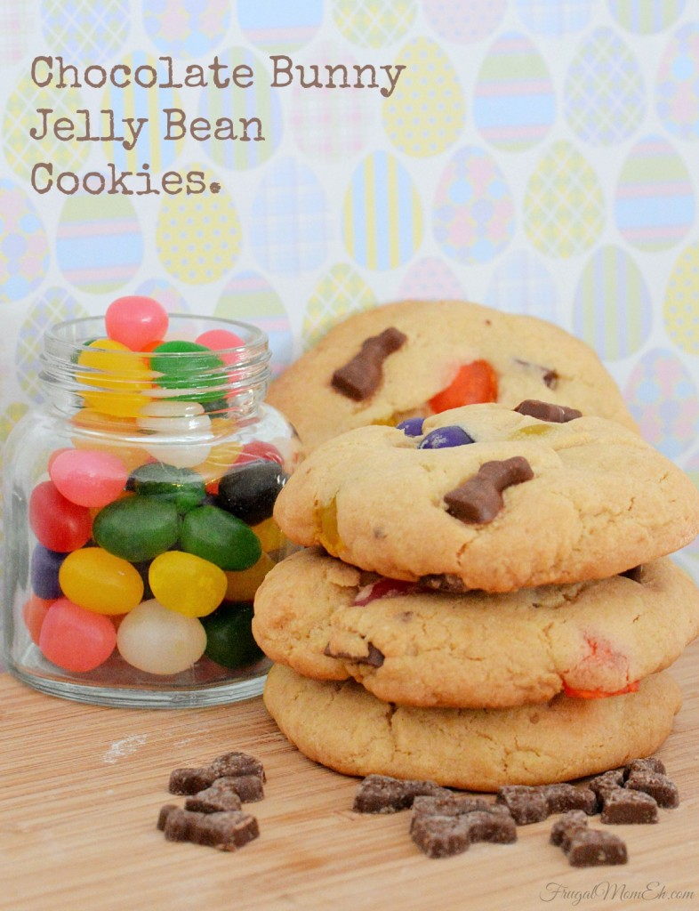 Chocolate Bunny Jelly Bean Cookies