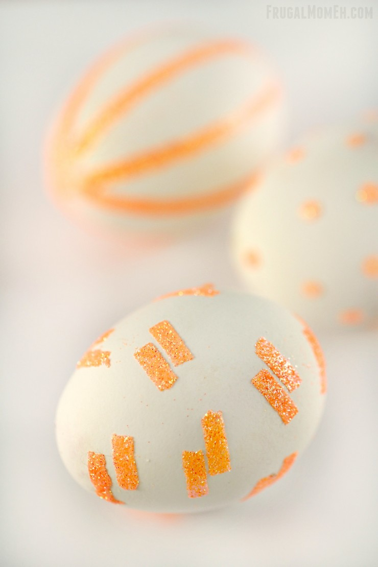 These Glitter Pattern Easter Eggs are a fun and easy wa to create unique and sparkly patterned Easter Eggs with GLITTER!