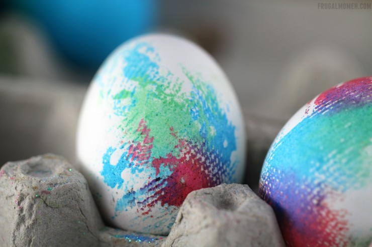 Tie-Dyed Easter Eggs area a groovy way to decorate Easter Eggs for your Easter home decor!