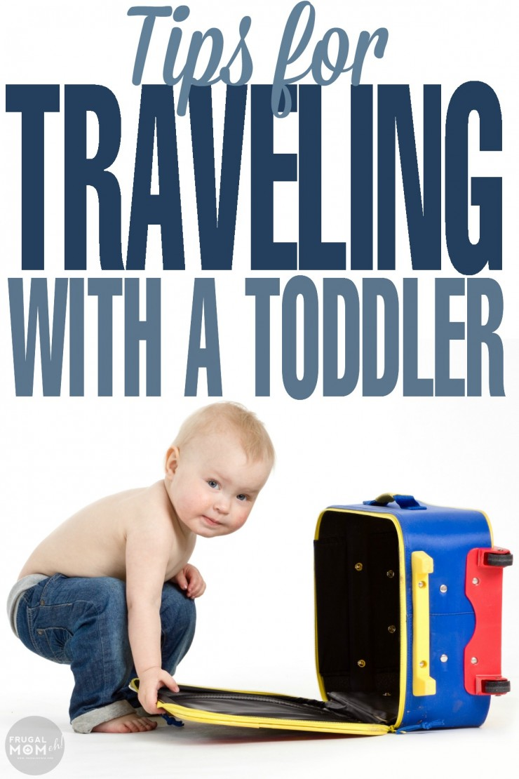 Tips for traveling with a toddler whether you are going on a road trip or taking your toddler flying on a plane.